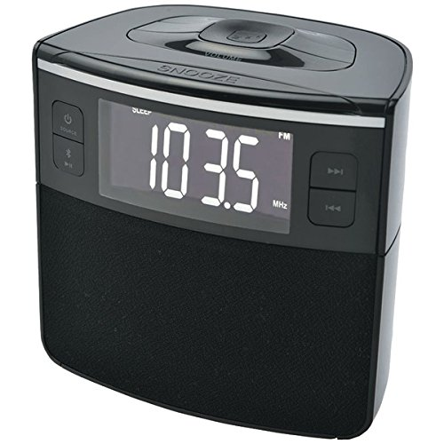Sylvania Scr1986bt-as Bluetooth[r] Clock Radio With Auto-set Dual Alarm Clock & Usb Charging