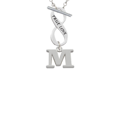 Large Initial - M - True Love Infinity Toggle Chain Necklace