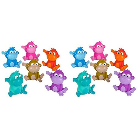 Rubber Monkey - Rhode Island Novelty - Rubber Bath Toys - MONKEYS (1 Dozen)