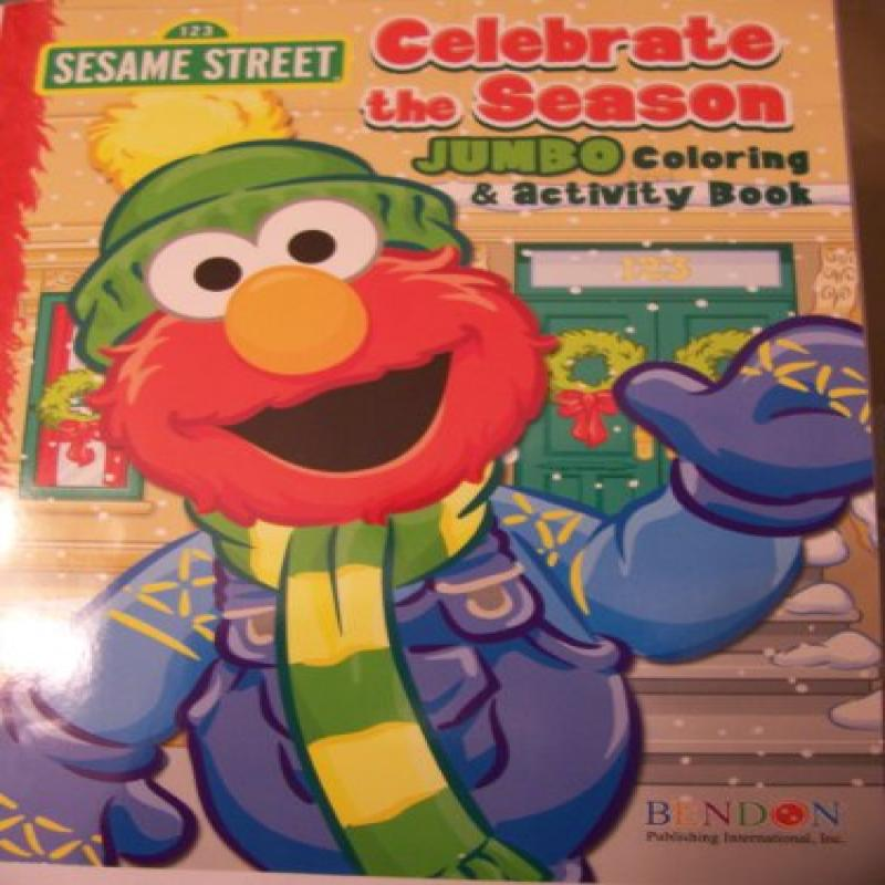 Sesame Street 2011 Holiday Jumbo Coloring & Activity Book ~ Celebrate the Season