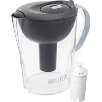 Brita Large 10 Cup Pacifica Water Pitcher With Filter - Bpa Free - Black