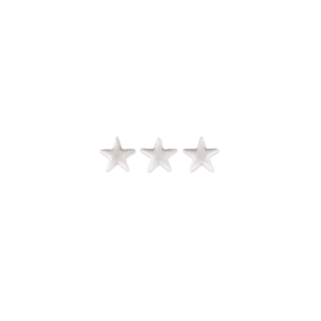 Set of 12 White Stars 7/8inch Edible Sugar Cake & Cupcake Decoration Toppers
