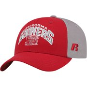 Youth Russell Crimson/Gray Oklahoma Sooners Tastic Adjustable Hat - OSFA