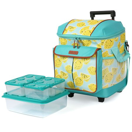 Arctic Zone Insulated Rolling Tote 44 Can Capacity