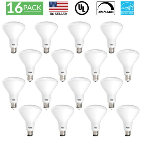 Sunco Lighting 16 Pack BR30 Dimmable Flood LED Light Bulb 11W 5000K, Daylight