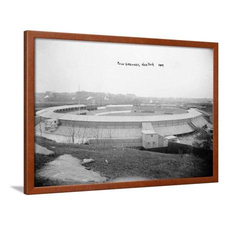 New York Giants Baseball Polo Grounds (Polo Grounds, NY Giants, Baseball Photo - New York, NY Framed Print Wall Art By Lantern Press)