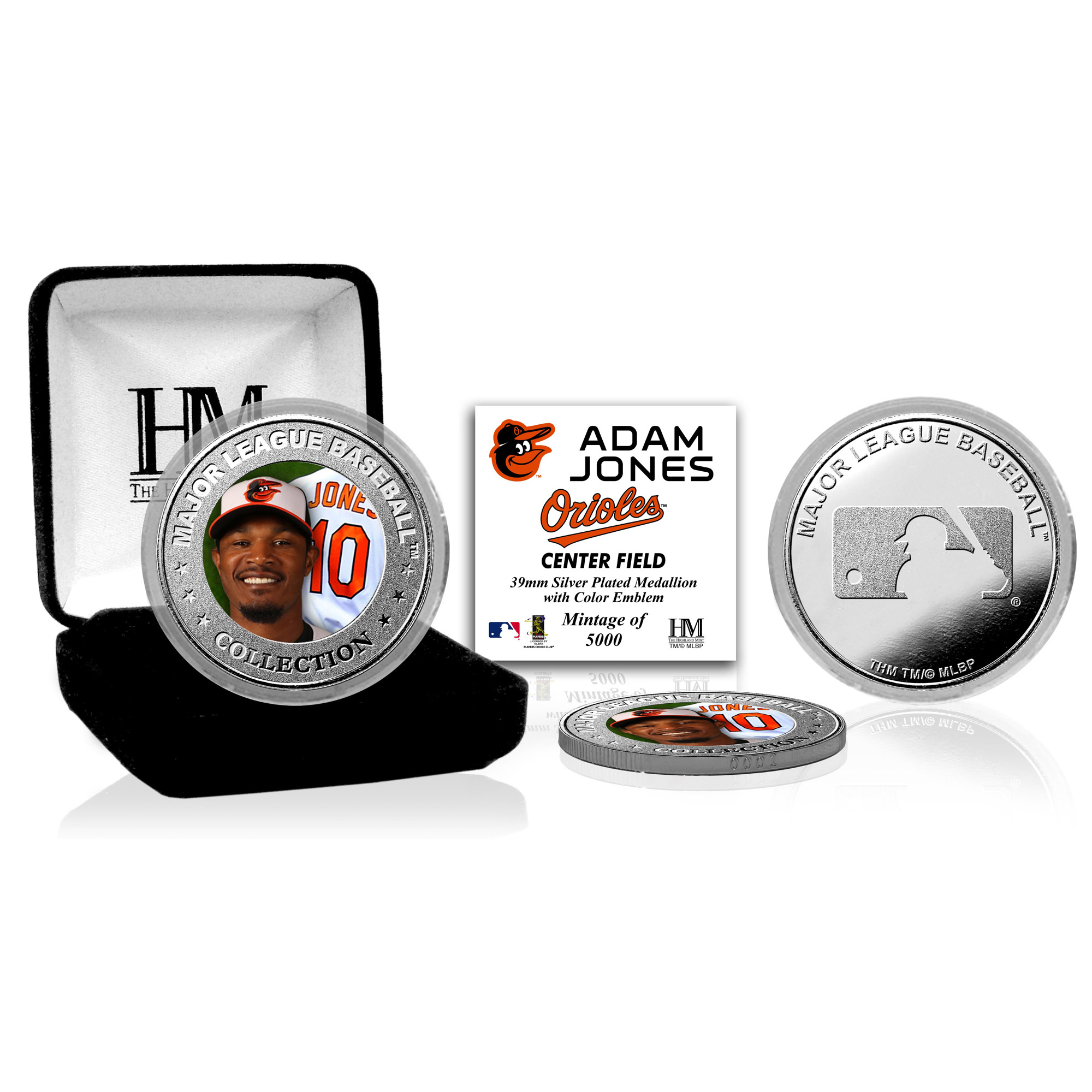 Adam Jones Baltimore Orioles Highland Mint Player Collector Coin - No Size