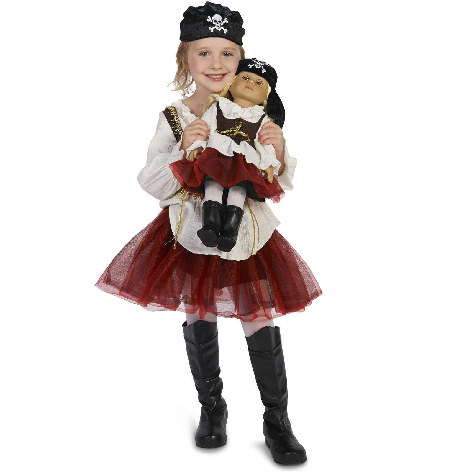 "Pirate Tutu Girl Child Costume M (8-10) with Matching 18"" Doll Costume by Generic"