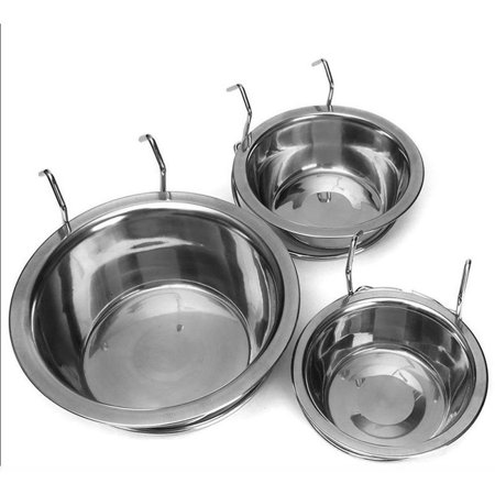 Stainless Steel Hanging Bowl Feeding Bowl Pet Bird Dog Food Water Cage Cup - image 6 de 12