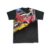 Power Rangers - Big Zord - Short Sleeve Black Back Shirt - Medium