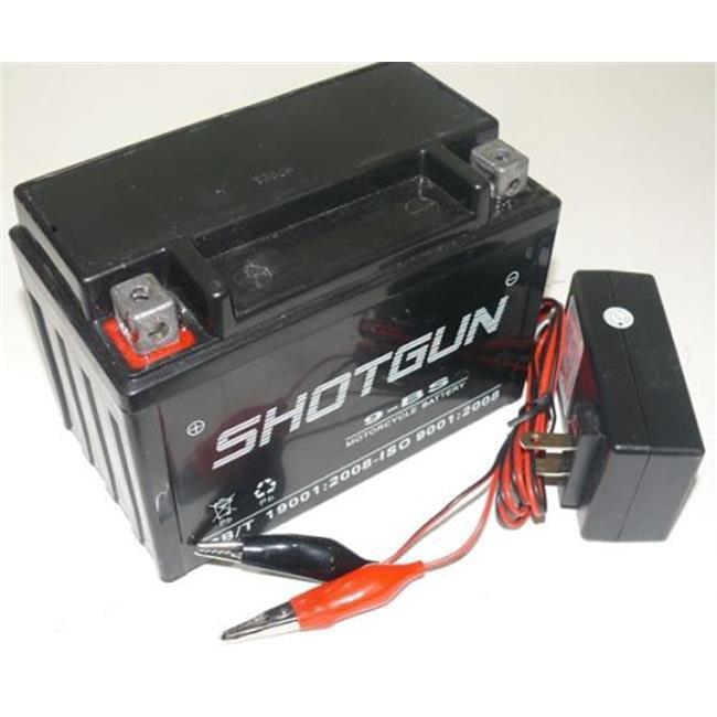 BatteryJack 9-BS-SHOTGUN-F120010W Shotgun YTX9 - BS Battery Charger - Maintenance Free - Sealed AGM Motorcycle Battery