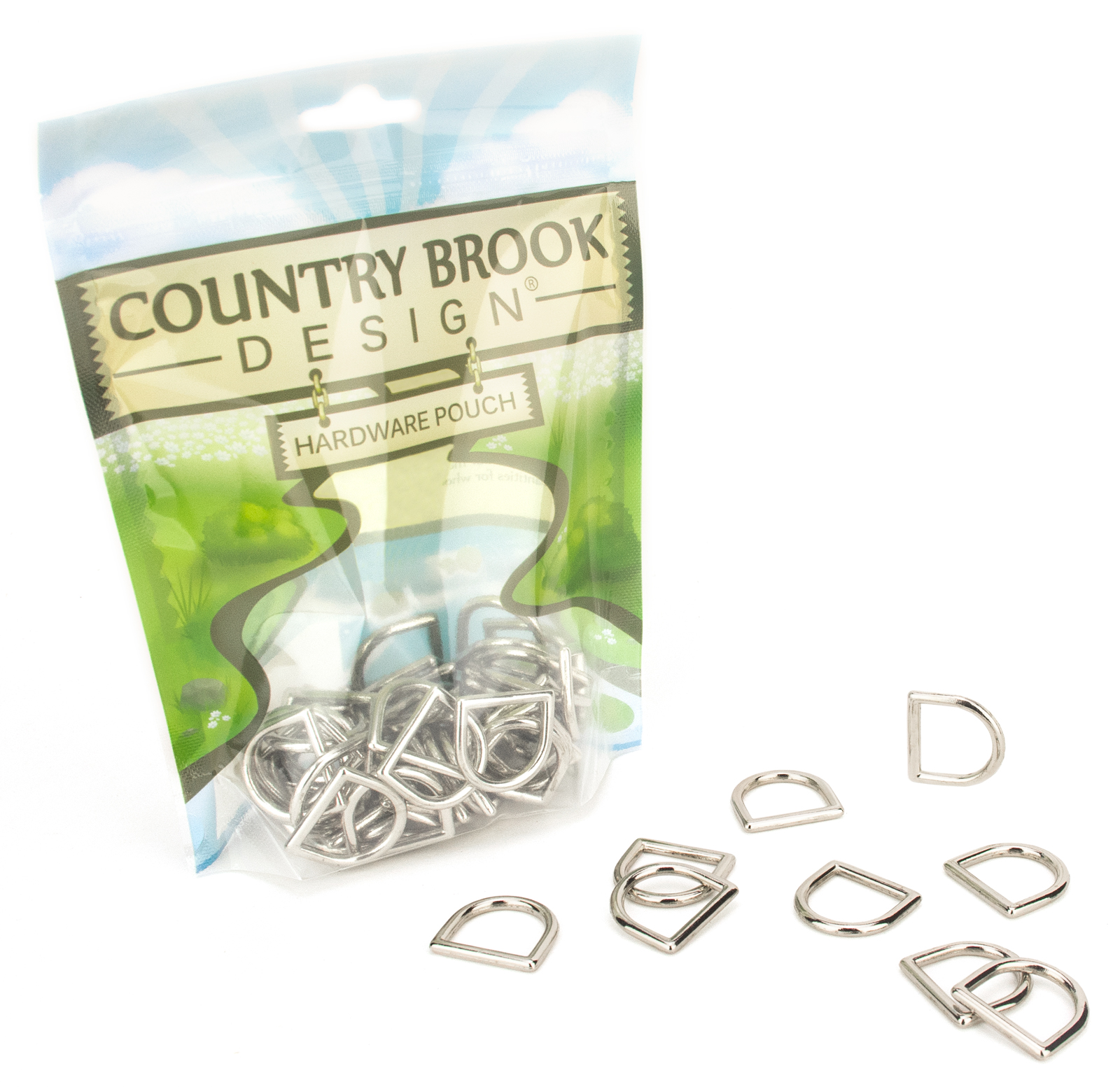 Country Brook Design® 3/4 Inch Die Cast Square Bottom D-Rings