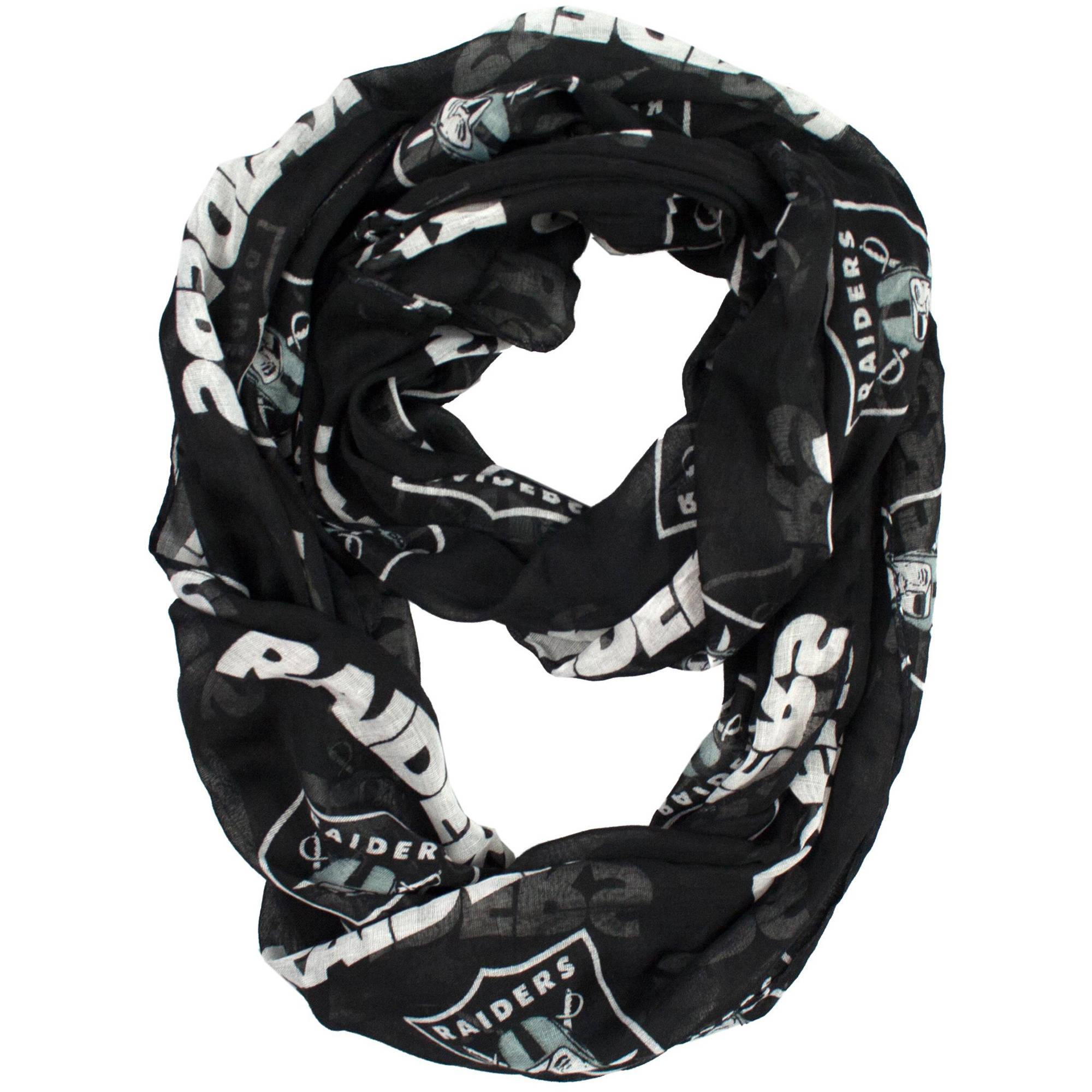 Little Earth - NFL Sheer Infinity Scarf, Oakland Raiders