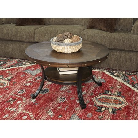 Powell Franklin Cocktail Table, Dark Brown Dark Brown Cocktail Table