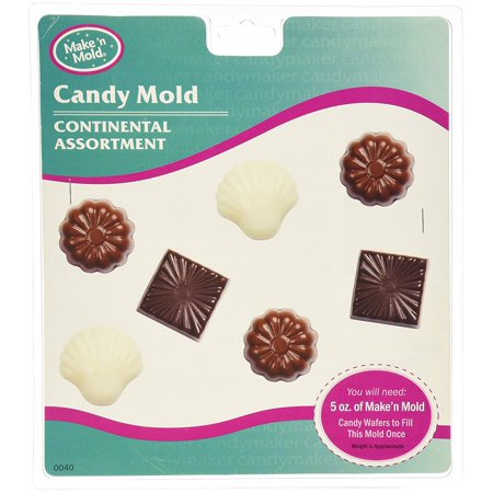 Make N' Mold 0040 Dress My Cupcake Continental Assortment Candy Mold, This mold is perfect for making your own traditional Valentine's or Mother's Day chocolates By Make N