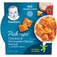 Gerber Pasta Pick-Ups Chicken and Parmesan Cheese Ravioli in Tomato Sauce 4.5 oz. Tray