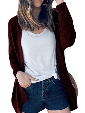 3b6f808e84a Product Image LEFASHION Women Solid Color Open Front Long Sleeve Knitwear  Cardigan Tops
