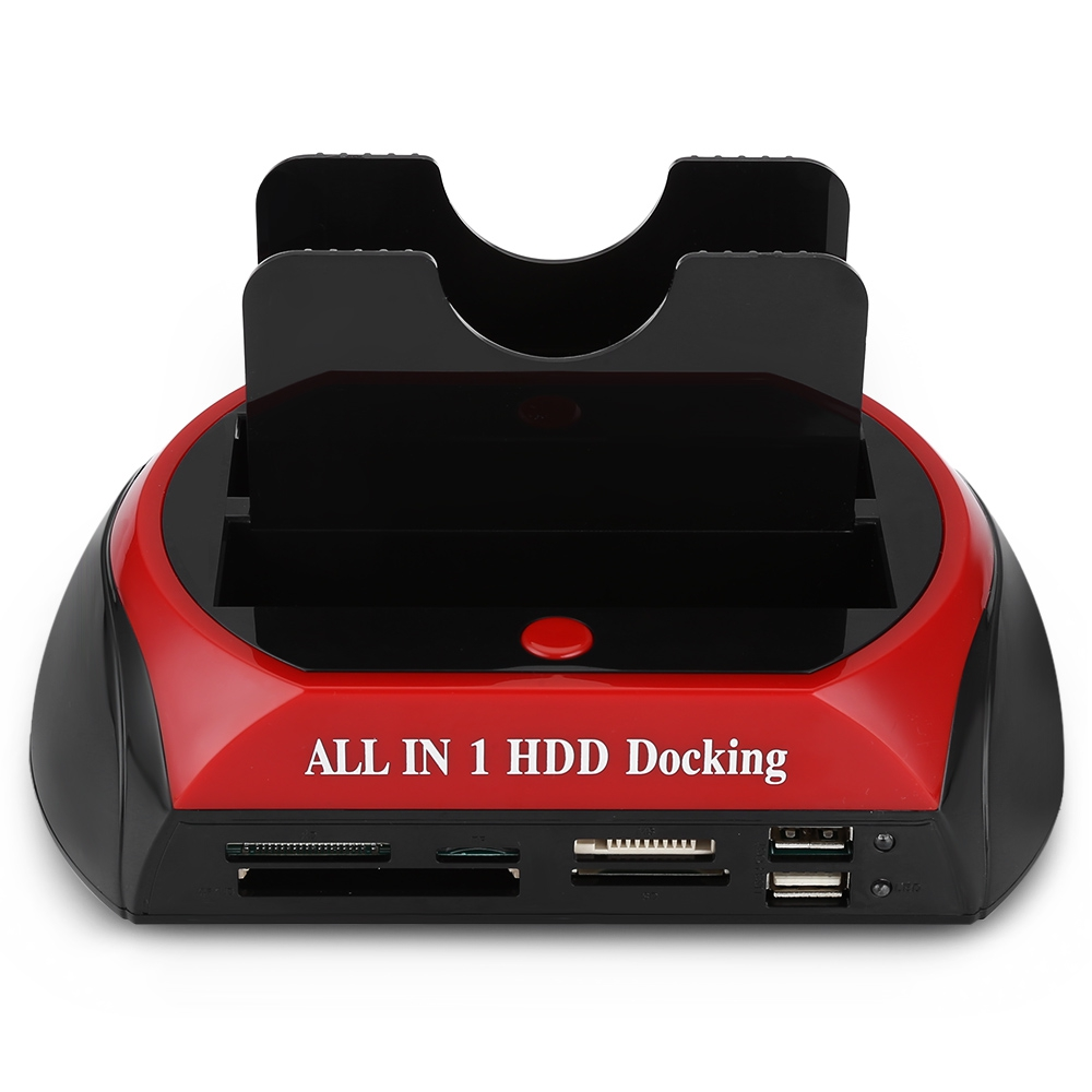 ESATA IDE SATA OTB HUB USB 2.0 Hard Drive HDD Docking Station With Card Reader Multifunctional OTB HUB US