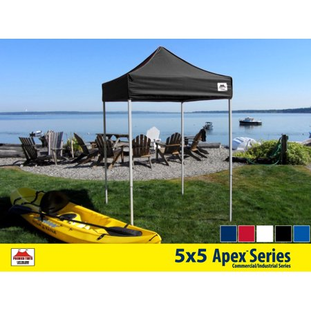 5x5 Apex Series 3 Commercial Pop Up Canopy with Onyx Black 600D top