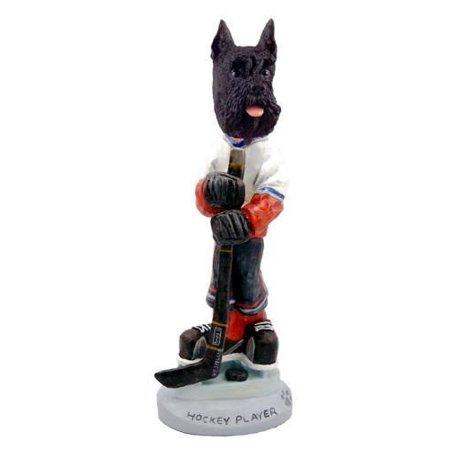 NO.DOOG13A27 Schnauzer Black Hockey Player Doogie Collectable Figurine