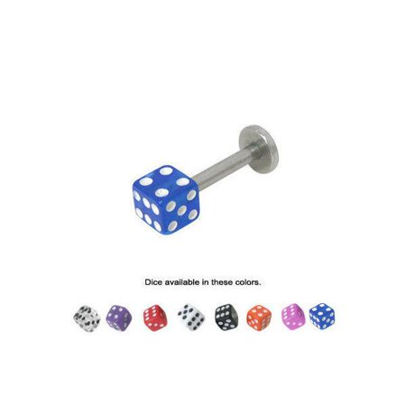 Acrylic Dice Labret Monroe Lip Jewelry - 8 Colors Available