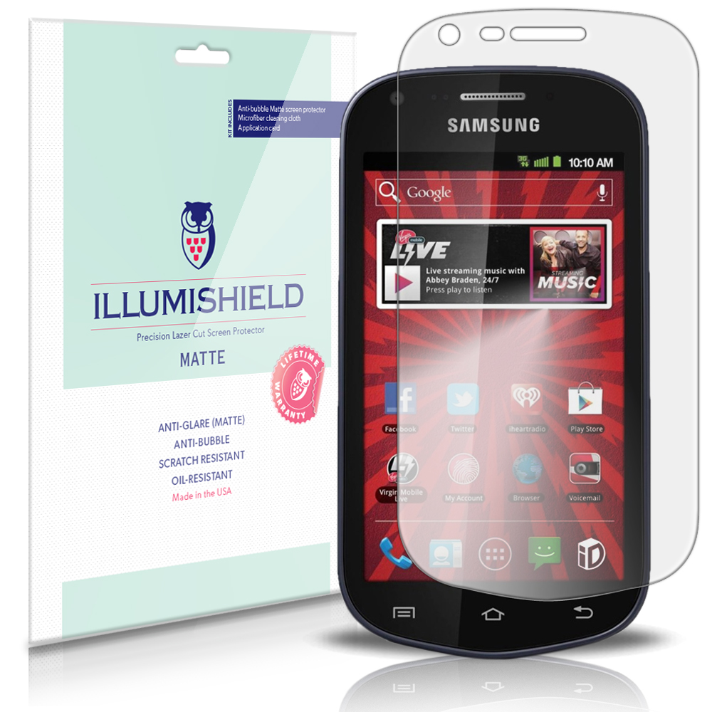 iLLumiShield Anti-Glare Matte Screen Protector 3x for Samsung Galaxy Reverb