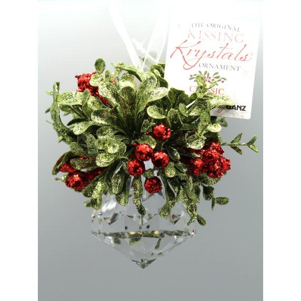 Mini Mistletoe Krystal Diamond Ornament By Ganz Walmart Com