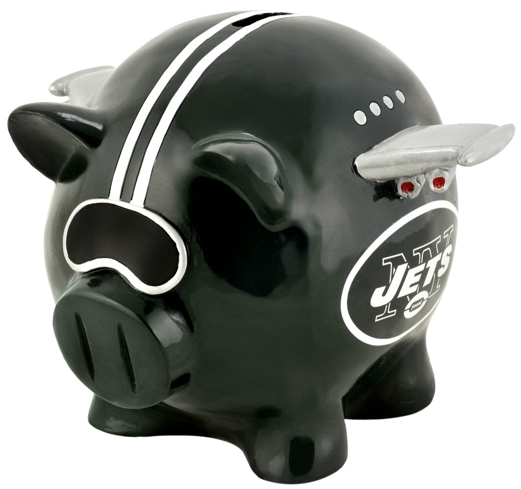 New York Jets Piggy Bank Thematic Small by
