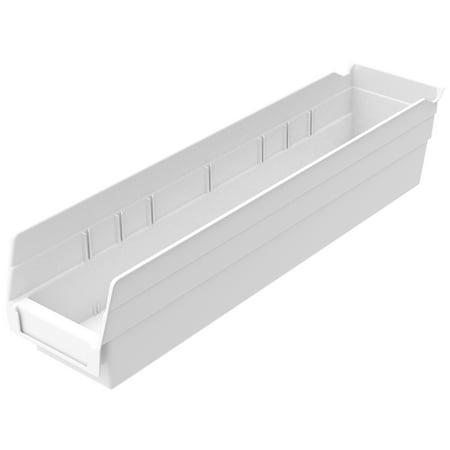 Akro-Mils Plastic Shelf Bin Nestable 30128 - 4-1/8