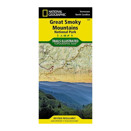 National geographic maps: trails illustrated: great smoky mountains national park - folded map: