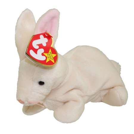 TY Beanie Baby - NIBBLER the Beige Rabbit (6 inch)