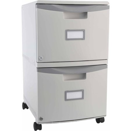 - Storex 2-Drawer Mobile File Cabinet With Lock and Casters, Legal/Letter