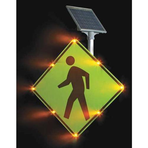 TAPCO 2180-00214 LED Traffic Sign, Pedestrian Crossing