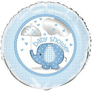 Foil Elephant Baby Shower Balloon, Blue, 18in, 1ct