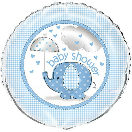 Foil Elephant Baby Shower Balloon, Blue, 18in, 1ct - Baby Shower Balloon Bouquets