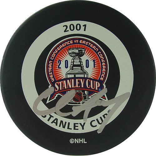 Steiner Sports Chris Drury 2001 Stanley Cup Signed Puck