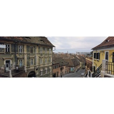 Buildings in a city Town Center Big Square Sibiu Transylvania Romania Canvas Art - Panoramic Images (36 x 13)