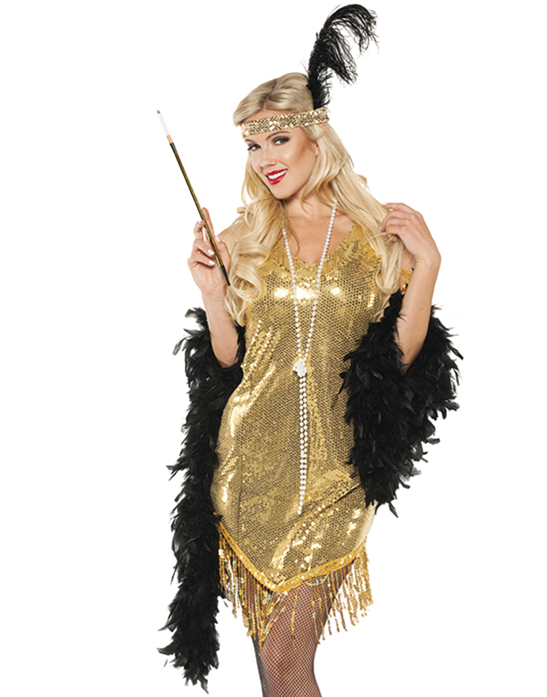 Gold Sequined Swinging Fler Dress 20 S The Great Gatsby Costume