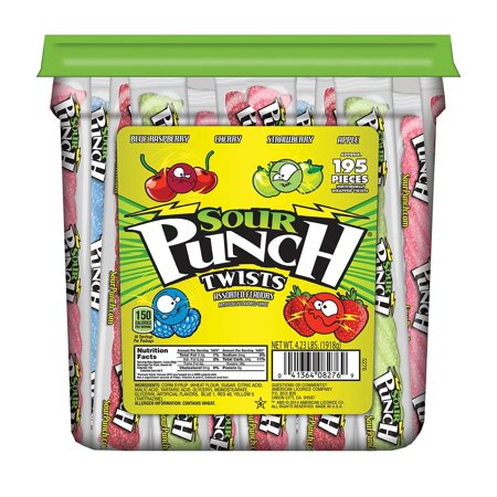 Sour Punch Twists (4.23 lb. jar) -Pack of 2