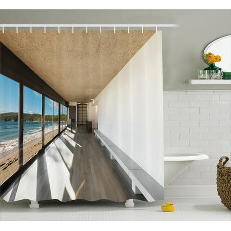 remarkable ocean bathroom sets | Beach Theme Decor Shower Curtain, Coastal Home Design with ...