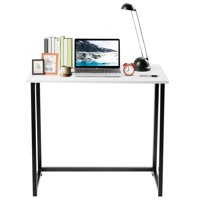 Topbuy Folding Computer Desk Home Office Students Laptop Use Sturdy Writing Table