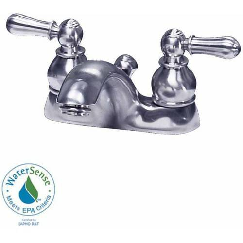 American Standard 7411.732.002 Hampton Centerset 1.5 GPM Lavatory Faucet with Metal Lever Handles and Metal Speed Connect Pop-Up Drain, Available in Various Colors