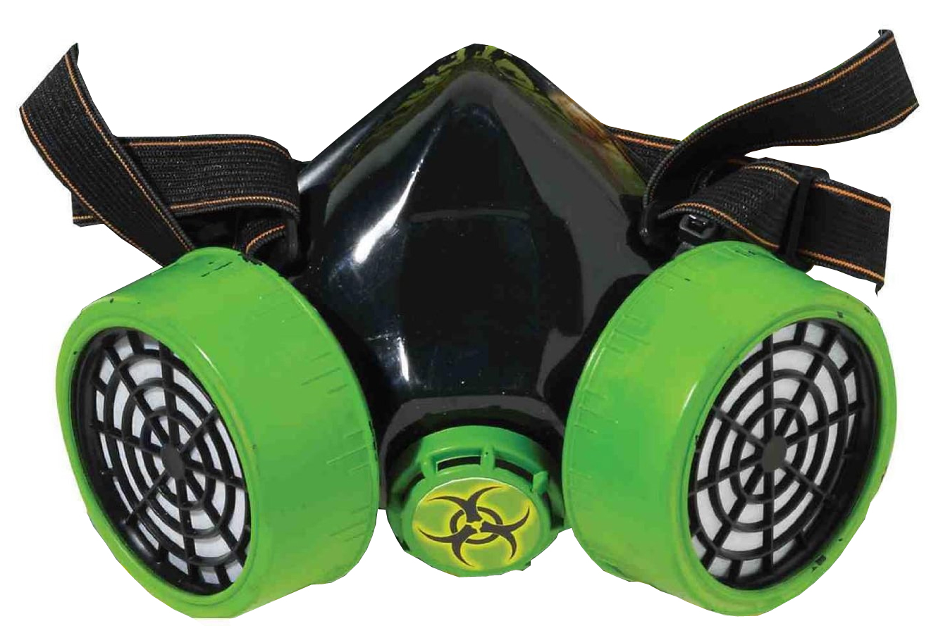 Click here to buy Adult Biohazard Zombie Gas Mask Respirator Green And Black Costume Accessory by Forum Novelties.