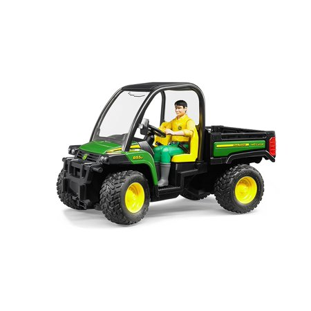 Bruder John Deere Gator XUV 855D with Driver, Made in Germany By Bruder Toys ()