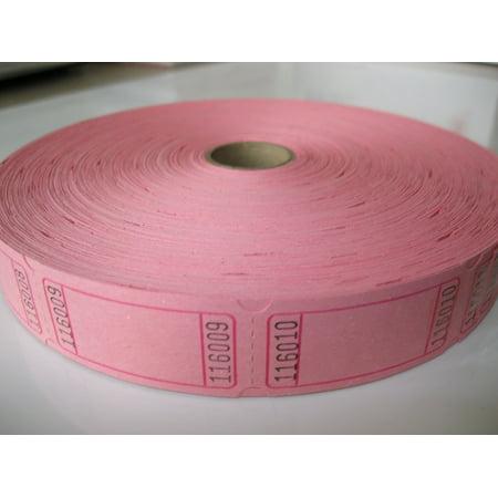 Blank Tickets (1 X 2000 Blank Pink Single Roll Consecutively Numbered Raffle Tickets, 2000 Pink Blank Single Roll Raffle Tickets By 50/50 Raffle Tickets Ship from)