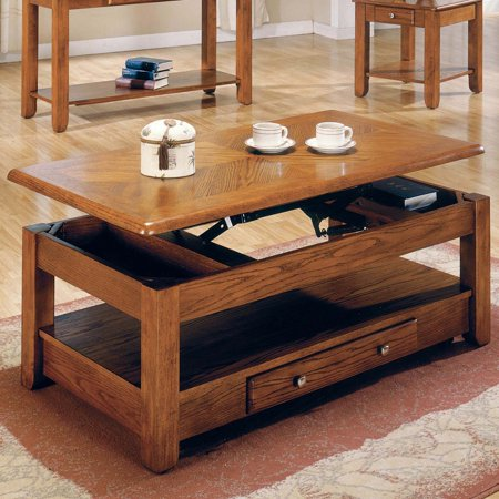 Steve Silver Nelson Lift Top Cocktail Table With Casters Oak