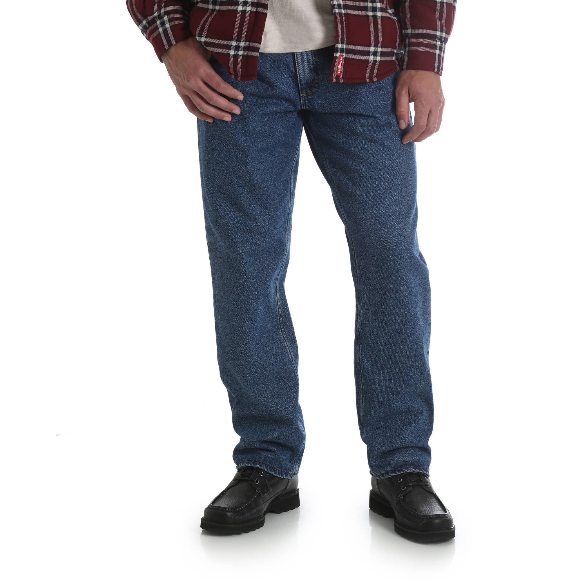 e6498b63 Wrangler - Men's Fleece Lined Relaxed Fit Jean - Walmart.com