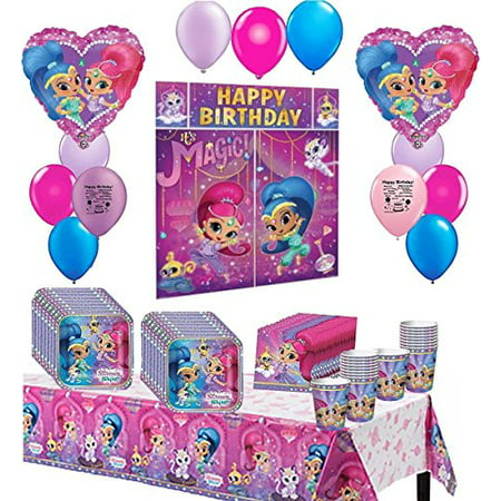 Happy Birthday Party Animal - Shimmer and Shine Deluxe Happy Birthday Party Pack Bundle