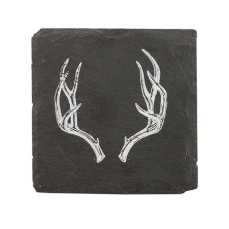 Rustic Holiday Antler Slate Coasters by Twine - Rustic Coasters