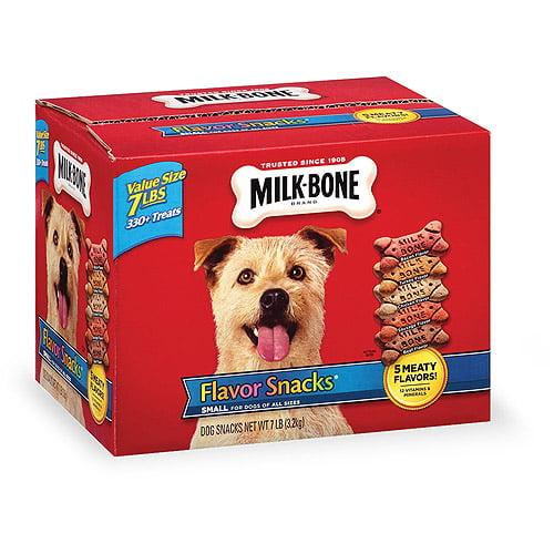 Milk-Bone Flavor Snacks Biscuit Dog Treats for Small & Medium Dogs, 7LB
